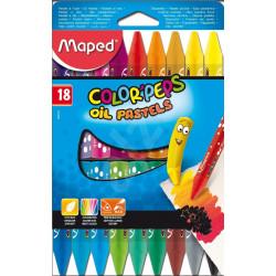 Maped Pastel Vaji 18 Color`Peps