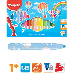 Maped Lapustila Maxi 18 Color`Peps  1+