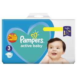 Pampers Active Baby-Dry Giant Box 4 Numra + 2Facoleta