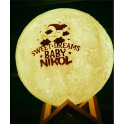Abazhur i personalizuar `Moon Lamp`
