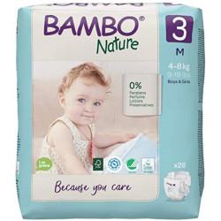 Bambo Nature Pelena nr.3 (4-8 kg) 28 cp