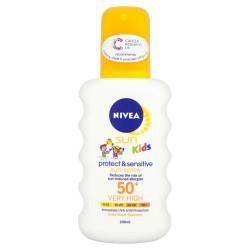 Nivea Spray per Femije Protect & Sensitive per Mbrojtje nga Dielli me  SPF 50+, 200ml