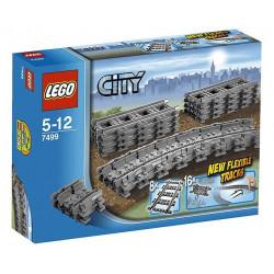 Loje Lego City Flexible & Straight Tracks 7499