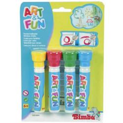 Loje Set Art And Fun Window Chalk