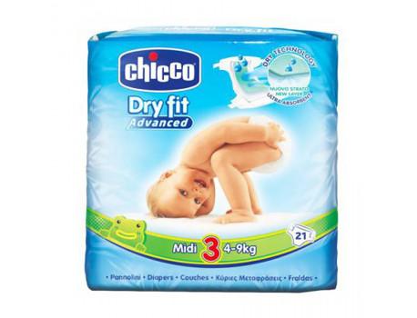 Chcco Pelena Nr. 3 Midi 21 cope per femije 4-9kg