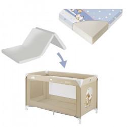 Cam Krevat Portativ per Bebe Sonno+ Dyshek qe paloset Lorelli