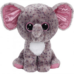Plush Ty Beanie Boos Specks Grey Speckled Elephant 25Cm