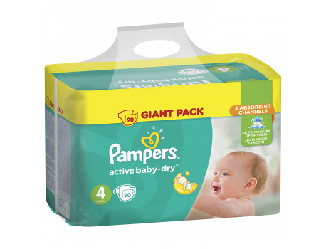 Pampers Active Baby-Dry Giant Box 4 Numra