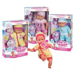 Pupobello Kukull Bebe dhe Pony Lekundes