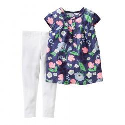 Carter's Set Bluze me Lule dhe Strece per Vajza