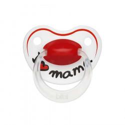 Bibi Biberon Fallco Silikon 16+ m I love Mama